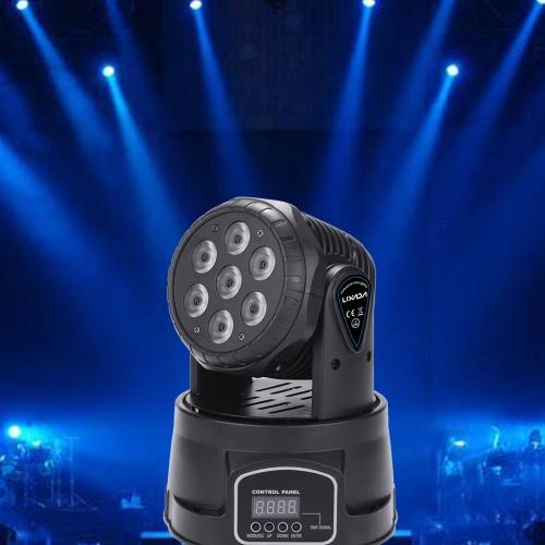 Lixada 7LED 105W RGBW 9/14 Channel DMX512 Mini Stage LightHome &amp; Garden<br>Lixada 7LED 105W RGBW 9/14 Channel DMX512 Mini Stage Light<br>