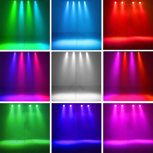 15W 12 LEDs RGBW Par Light Stage Light Flash Strobe Color Mixing DMX512 Sound Activated 8 Channel for Wedding KTV Bar PubHome &amp; Garden<br>15W 12 LEDs RGBW Par Light Stage Light Flash Strobe Color Mixing DMX512 Sound Activated 8 Channel for Wedding KTV Bar Pub<br>
