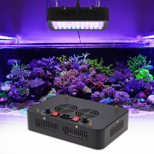 165W 55 LEDs Aquarium Light Dimmable Full Spectrum for Reef Fish Coral Tank Freshwater Saltwater Lighting Blue and WhiteHome &amp; Garden<br>165W 55 LEDs Aquarium Light Dimmable Full Spectrum for Reef Fish Coral Tank Freshwater Saltwater Lighting Blue and White<br>