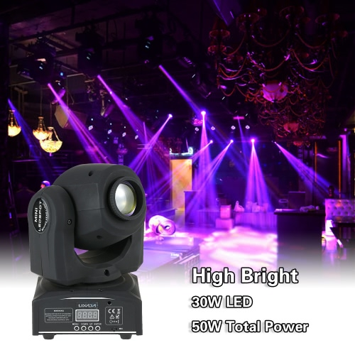 Lixada 50W 9 / 11 Channel High Bright Gobo Pattern Mini Moving Head Light RGBW LED Stage Effect Light Support DMX-512 Sound ActivaHome &amp; Garden<br>Lixada 50W 9 / 11 Channel High Bright Gobo Pattern Mini Moving Head Light RGBW LED Stage Effect Light Support DMX-512 Sound Activa<br>
