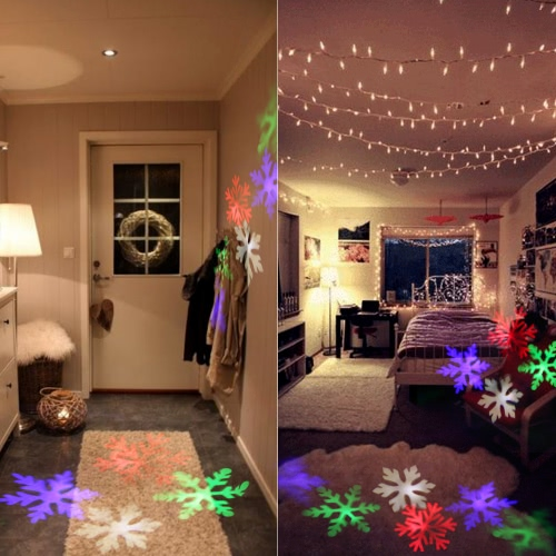 4W 4LED Moving Dynamic Snowflake Film Projector Light with Replaceable Base Pattern Decoration Garden Lawn Lamp Festival SpotlightHome &amp; Garden<br>4W 4LED Moving Dynamic Snowflake Film Projector Light with Replaceable Base Pattern Decoration Garden Lawn Lamp Festival Spotlight<br>