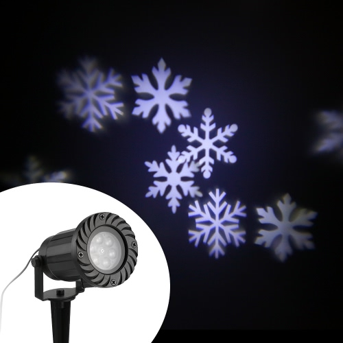 Waterproof Projector Light Automatically LED Moving Snowflakes Spotlight Lamp Wall and Tree Christmas Holiday Garden Landscape DecHome &amp; Garden<br>Waterproof Projector Light Automatically LED Moving Snowflakes Spotlight Lamp Wall and Tree Christmas Holiday Garden Landscape Dec<br>