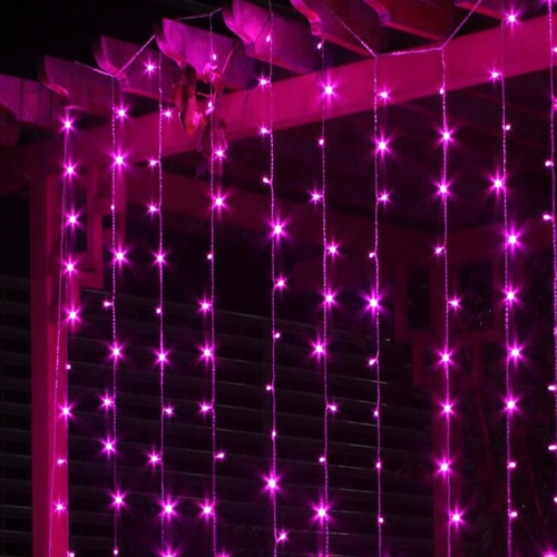 3*3M 448 Battery Operated Curtain LED String Lamp Christmas Fairy Icicle Lights Outdoor Home for Wedding Party Garden Decoration BHome &amp; Garden<br>3*3M 448 Battery Operated Curtain LED String Lamp Christmas Fairy Icicle Lights Outdoor Home for Wedding Party Garden Decoration B<br>