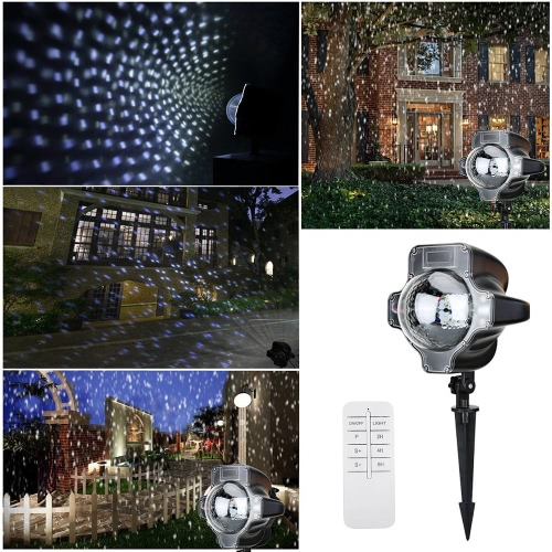 Snowfall Flurries LED Light Snowflake Projector LightsHome &amp; Garden<br>Snowfall Flurries LED Light Snowflake Projector Lights<br>