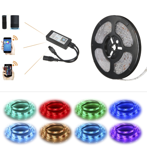 5M 150LEDs RGB APP WIFI Smart IR24 Keys Remote Control Lighting StripHome &amp; Garden<br>5M 150LEDs RGB APP WIFI Smart IR24 Keys Remote Control Lighting Strip<br>