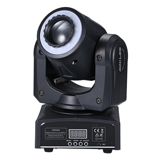 30W 8 Gobos Stage Light Rotating RGBW Spotlight Mini Moving Head Lamp