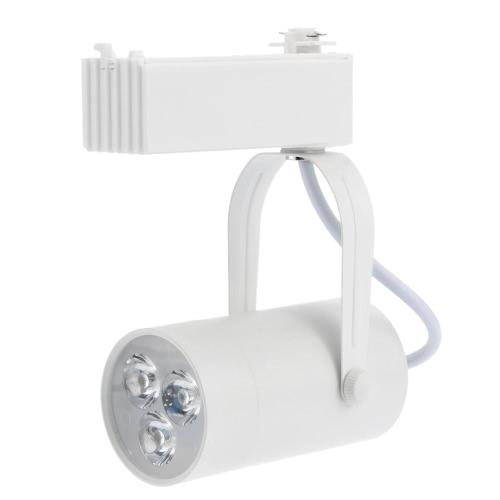 3W LED Track Rail Light Spotlight Adjustable for Mall Exhibition Office Use AC85-  265VHome &amp; Garden<br>3W LED Track Rail Light Spotlight Adjustable for Mall Exhibition Office Use AC85-  265V<br>