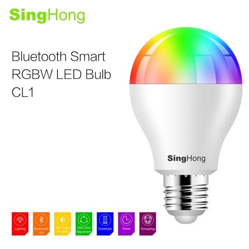 SingHong 7.5W 600LM E26/E27 Smart RGBW LED Bluetooth BulbHome &amp; Garden<br>SingHong 7.5W 600LM E26/E27 Smart RGBW LED Bluetooth Bulb<br>