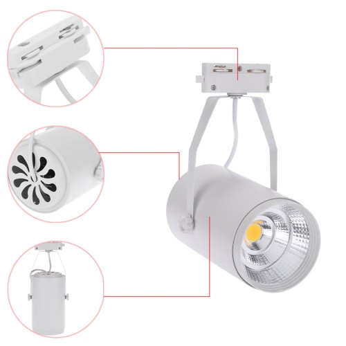 15W AC85-265V 1350LM COB Track Rail LED Light Spotlight Lamp Adjustable for Shopping Mall Clothes Store Exhibition Office Use BlacHome &amp; Garden<br>15W AC85-265V 1350LM COB Track Rail LED Light Spotlight Lamp Adjustable for Shopping Mall Clothes Store Exhibition Office Use Blac<br>