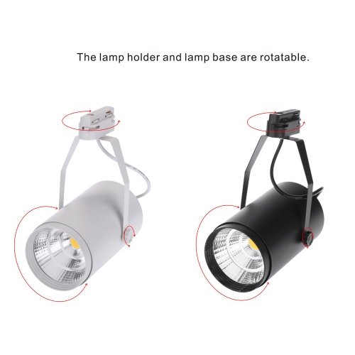 20W AC85-265V 1800LM COB Track Rail LED Light Spotlight Lamp Adjustable for Shopping Mall Clothes Store Exhibition Office Use BlacHome &amp; Garden<br>20W AC85-265V 1800LM COB Track Rail LED Light Spotlight Lamp Adjustable for Shopping Mall Clothes Store Exhibition Office Use Blac<br>