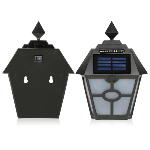Retro IP65 Water Resistant Outdoor Solar Powered Night Light Induction Sensor LED Wall Lamp for Garden Courtyard Fence Corridor AiHome &amp; Garden<br>Retro IP65 Water Resistant Outdoor Solar Powered Night Light Induction Sensor LED Wall Lamp for Garden Courtyard Fence Corridor Ai<br>