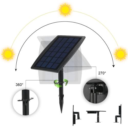 Tomshine 130LM 2W Dual Solar Powered Spotlights WhiteHome &amp; Garden<br>Tomshine 130LM 2W Dual Solar Powered Spotlights White<br>