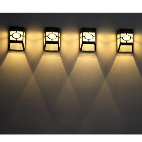 2V Solar Powered Energy Wall Lamp Sensitive Control Light