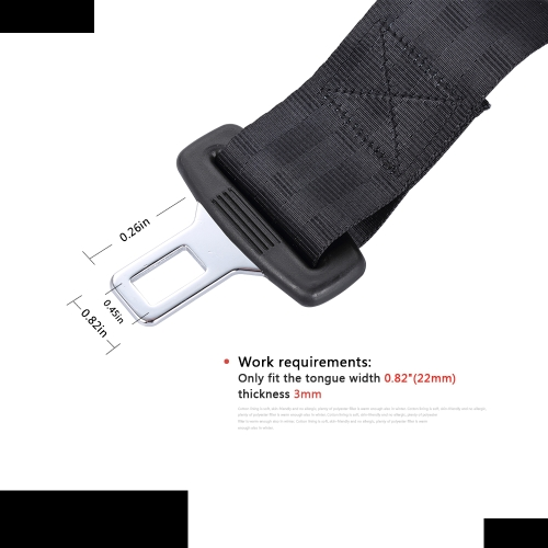 Universal Seat Belt Extender Click-in  Vehicle Car Safety Seatbelt  Extension Clip Buckle 0.82(22mm) TongueHome &amp; Garden<br>Universal Seat Belt Extender Click-in  Vehicle Car Safety Seatbelt  Extension Clip Buckle 0.82(22mm) Tongue<br>