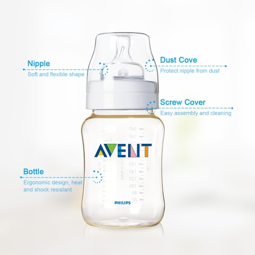 PHILIPS AVENT Classic PES Bottle BPA Free 260mlHome &amp; Garden<br>PHILIPS AVENT Classic PES Bottle BPA Free 260ml<br>