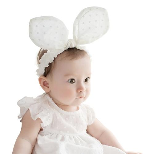 Headbands do bebê elástico Hairbands da menina de algodão atado