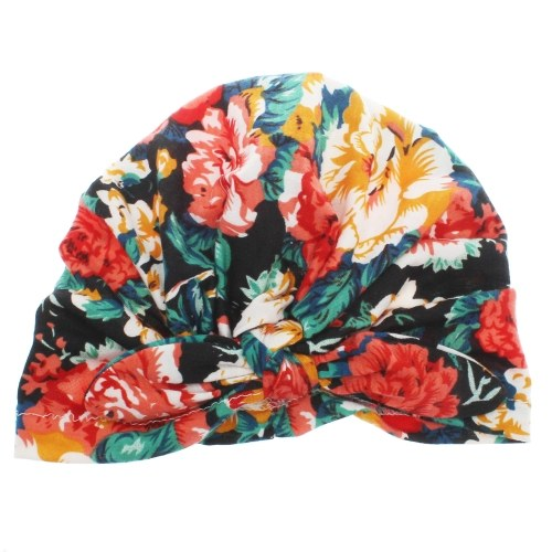 Cute Fashion Flower Printed Bowknot Pullover Hat