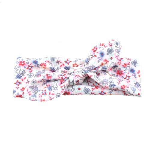 Children Rabbit Ears Hair Band Cute Flower Printed Bowknot Headbands