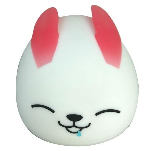 Night Light For Kids Soft Rabbit Silicone Baby Nursery Lamp