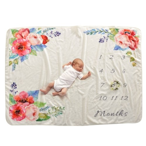 Cobertor mensal do bebê milestone para o menino da menina