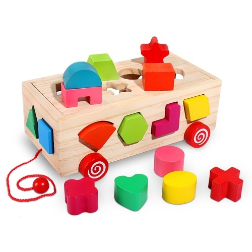Forma del cubo di attività in legno e selezionatore di colori