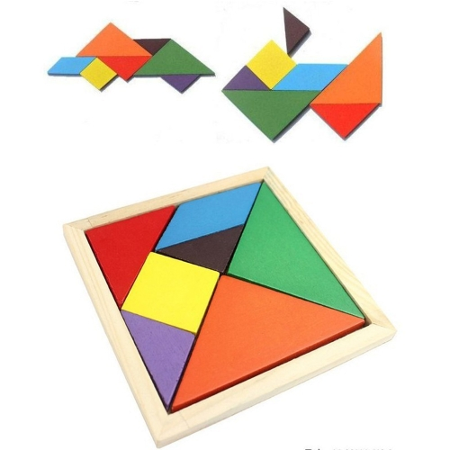 Colorful Changable DIY Puzzle Jigsaw Wooden Kids Children ToyHome &amp; Garden<br>Colorful Changable DIY Puzzle Jigsaw Wooden Kids Children Toy<br>