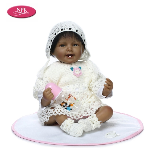 22inch Girl Soft Body Silicone Realistic Baby Doll Play House Game Toys
