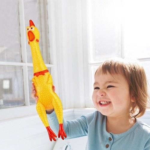 17CM Screaming Chicken Squeeze Sound Toy Animais de Estimação Shrilling Descompressão Ferramenta Engraçado Gadgets