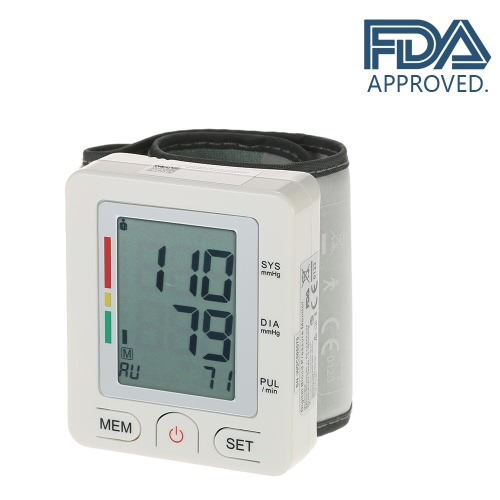 AlphaMed Clinical LCD Automatic Wrist Blood Pressure Monitor
