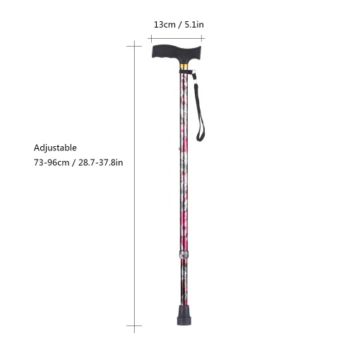 Height Adjustable Aluminum Cane Lightweight Walking Stick with T Handle Anti-Slide Right or Left Hand UseHealth &amp; Beauty<br>Height Adjustable Aluminum Cane Lightweight Walking Stick with T Handle Anti-Slide Right or Left Hand Use<br>