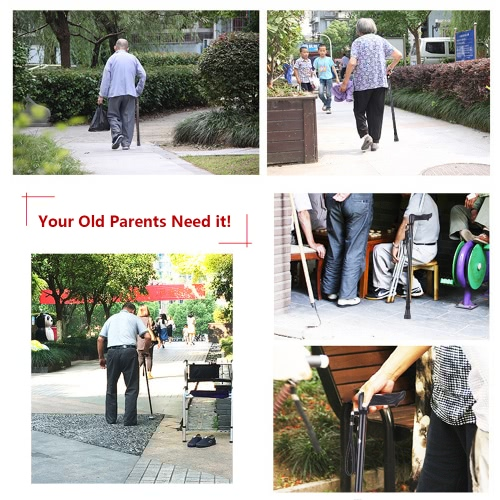 Height adjustable Aluminum Palm Grip Cane for Left Hand Lightweight Anti-Slide Walking StickHealth &amp; Beauty<br>Height adjustable Aluminum Palm Grip Cane for Left Hand Lightweight Anti-Slide Walking Stick<br>
