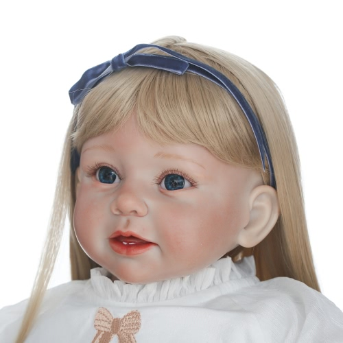 Silicon Reborn Toddler Doll Baby Doll Girl With Curly Golden Hair Clothes Wig Boneca 28inch 71cm Lifelike Cute Gifts ToyHome &amp; Garden<br>Silicon Reborn Toddler Doll Baby Doll Girl With Curly Golden Hair Clothes Wig Boneca 28inch 71cm Lifelike Cute Gifts Toy<br>