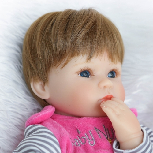 16inch 41cm Silicone PP Filling Reborn Toddler Baby Doll Girl Body Boneca With Clothes Blue Eyes Lifelike Cute Gifts ToyHome &amp; Garden<br>16inch 41cm Silicone PP Filling Reborn Toddler Baby Doll Girl Body Boneca With Clothes Blue Eyes Lifelike Cute Gifts Toy<br>