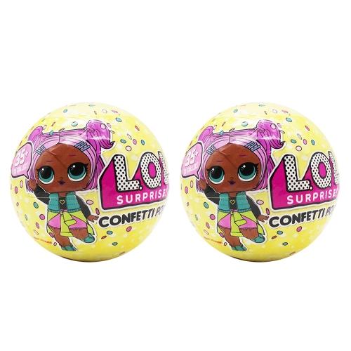 2Pcs LOL Surprise! Confetti Pop Series 3 Doll 9CmHome &amp; Garden<br>2Pcs LOL Surprise! Confetti Pop Series 3 Doll 9Cm<br>