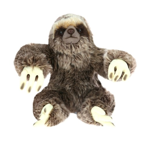 8.8インチの生き生きとしたぬいぐるみアニメーション座っているスロスふわふわのぬいぐるみ動物玩具