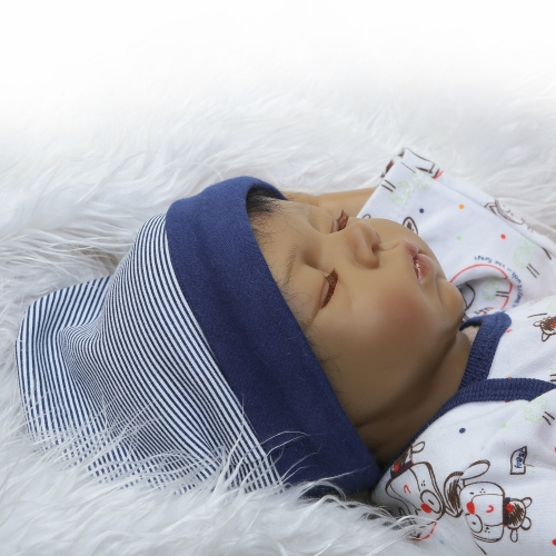 22inch Silicon Reborn Toddler Doll Sleeping Baby Doll Boy Eyes Close With Hair Clothes Boneca Lifelike Cute Gifts ToyHome &amp; Garden<br>22inch Silicon Reborn Toddler Doll Sleeping Baby Doll Boy Eyes Close With Hair Clothes Boneca Lifelike Cute Gifts Toy<br>