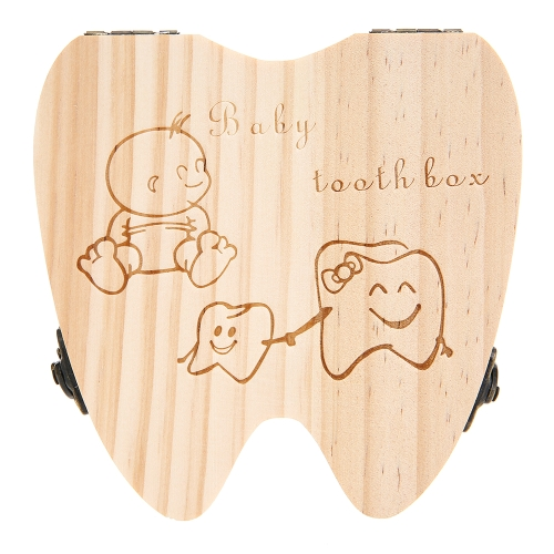 Baby Teeth Lanugo Save Box Wooden Cute Personality  Deciduous Souvenir Box Colored Box For BoyHome &amp; Garden<br>Baby Teeth Lanugo Save Box Wooden Cute Personality  Deciduous Souvenir Box Colored Box For Boy<br>
