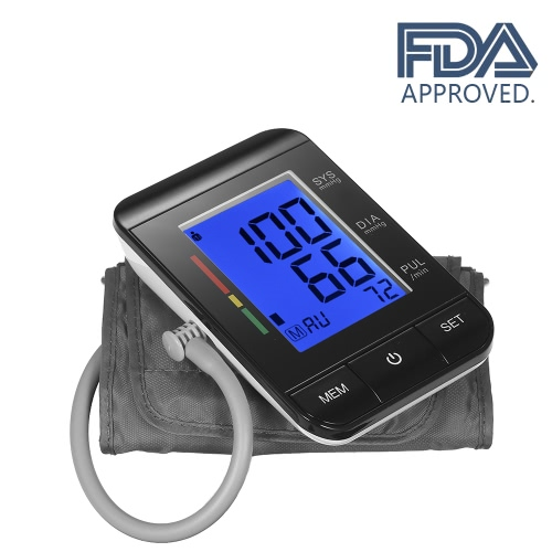 AlphaMed LCD Upper Arm Blood Pressure Monitor CE & FDA & ROHS Approved