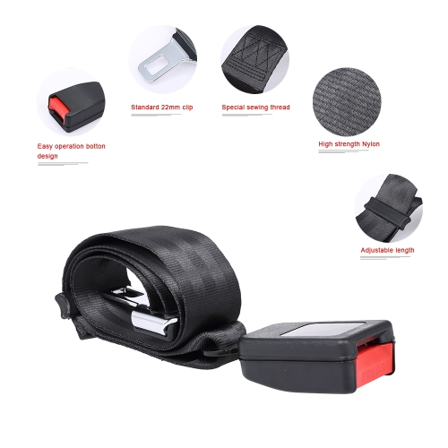 Universal Seat Belt Extender Click-in Adjustable Vehicle Car Safety Seatbelt Clip Buckle ExtensionHome &amp; Garden<br>Universal Seat Belt Extender Click-in Adjustable Vehicle Car Safety Seatbelt Clip Buckle Extension<br>