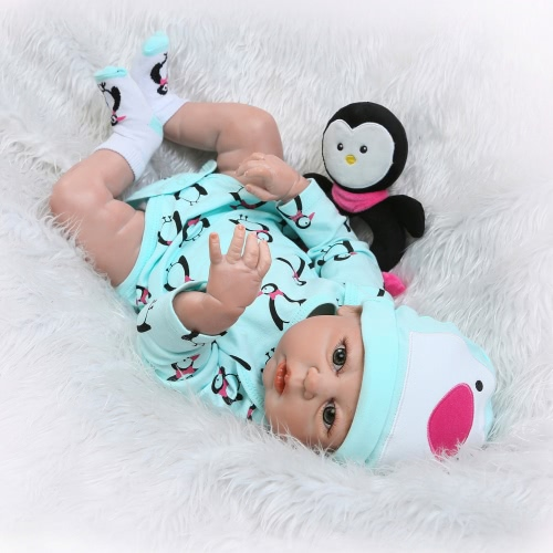 Reborn Baby Doll Girl Baby Bath Toy Full Silicone Body Eyes Open With Clothes 22inch 55cm Lifelike Cute Gifts ToyHome &amp; Garden<br>Reborn Baby Doll Girl Baby Bath Toy Full Silicone Body Eyes Open With Clothes 22inch 55cm Lifelike Cute Gifts Toy<br>