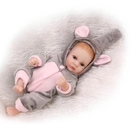 10インチ25センチメートルリボーンベビードールの男の子完全なシリコーンプリンセス人形の赤ちゃんのおもちゃのおもちゃの服生き生きとしたかわいいギフトのおもちゃ