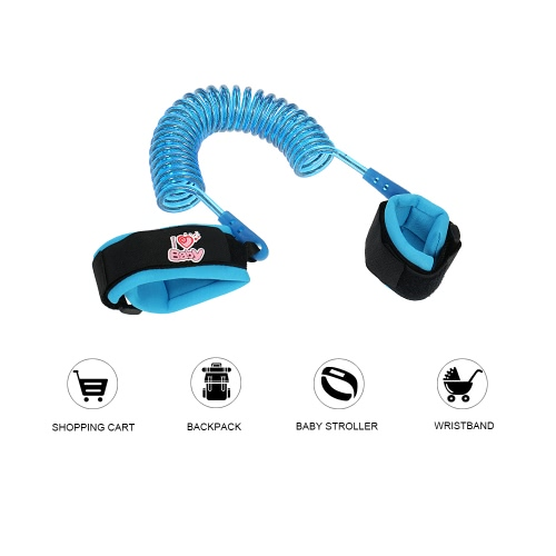 Child Anti Lost Wrist Band Link Walking/Swimming Safety Strap Rope Leash Hand Belt Magic Tapes For Baby Toddler Child   2.5M BlueHome &amp; Garden<br>Child Anti Lost Wrist Band Link Walking/Swimming Safety Strap Rope Leash Hand Belt Magic Tapes For Baby Toddler Child   2.5M Blue<br>