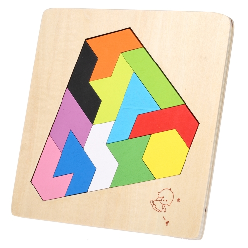 Wooden Jigsaw Puzzle Diamond Board Tangram Early Educational Develoment Toys Gifts for KidsHome &amp; Garden<br>Wooden Jigsaw Puzzle Diamond Board Tangram Early Educational Develoment Toys Gifts for Kids<br>