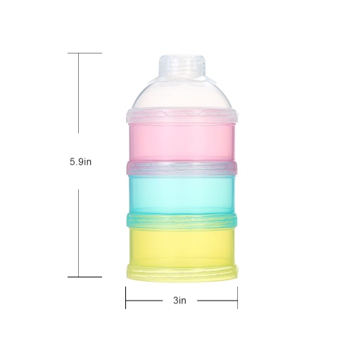 3 Layer Milk Powder Dispenser Box Case Stackable Formula Suger Box Pill Snack Containers BPA FreeHome &amp; Garden<br>3 Layer Milk Powder Dispenser Box Case Stackable Formula Suger Box Pill Snack Containers BPA Free<br>