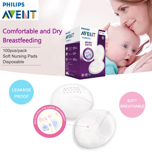 PHILIPS AVENT 100pcs Stay Dry Disposable Nursing PadsHome &amp; Garden<br>PHILIPS AVENT 100pcs Stay Dry Disposable Nursing Pads<br>