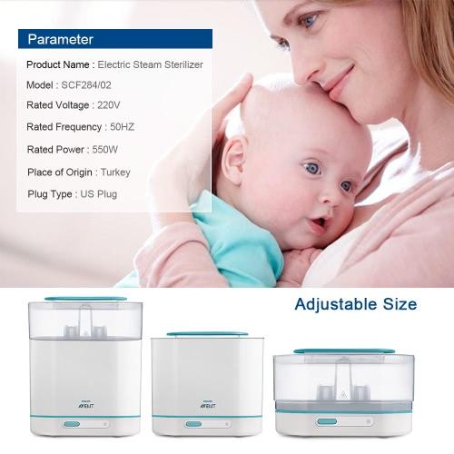 PHILIPS AVENT 3-in-1 Milk Bottles Electric Steam Sterilizer US PlugHome &amp; Garden<br>PHILIPS AVENT 3-in-1 Milk Bottles Electric Steam Sterilizer US Plug<br>