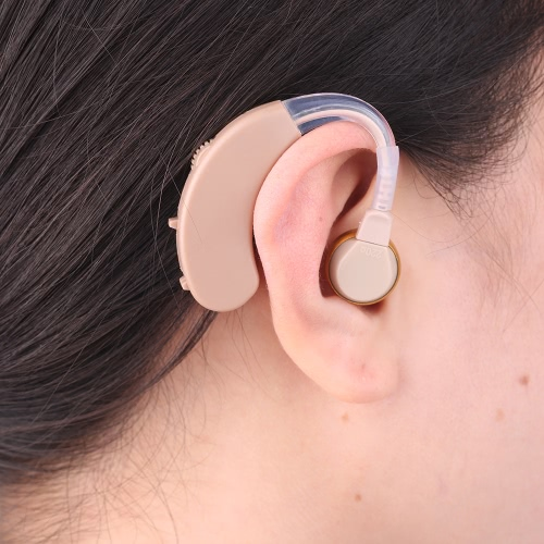 Behind ear