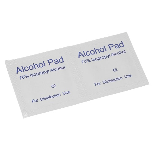 100PCS Disposal Alcohol Pads Disinfection Medium 2-Ply Alcohol Wipes Swabs CE ApprovedHealth &amp; Beauty<br>100PCS Disposal Alcohol Pads Disinfection Medium 2-Ply Alcohol Wipes Swabs CE Approved<br>