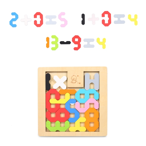 Wooden Jigsaw Puzzle Number Count Board Tangram Early Educational Develoment Toys Gifts for KidsHome &amp; Garden<br>Wooden Jigsaw Puzzle Number Count Board Tangram Early Educational Develoment Toys Gifts for Kids<br>