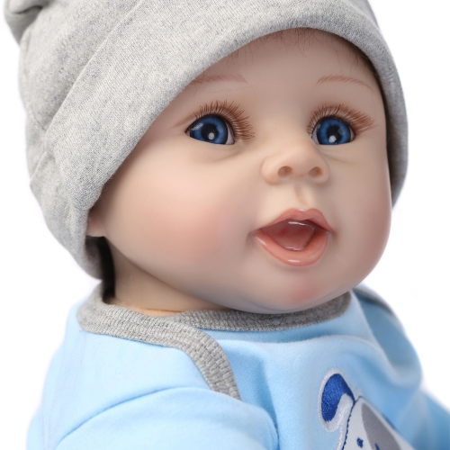 22inch 55cm Reborn Toddler Baby Doll Boy Silicone Body Boneca With Clothes Blue Eyes Lifelike Cute Gifts ToyHome &amp; Garden<br>22inch 55cm Reborn Toddler Baby Doll Boy Silicone Body Boneca With Clothes Blue Eyes Lifelike Cute Gifts Toy<br>